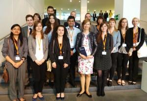 MEELS Studierende mit Generalanwältin Prof. Dr. Juliane Kokott am Europäischen Gerichtshof in Luxemburg